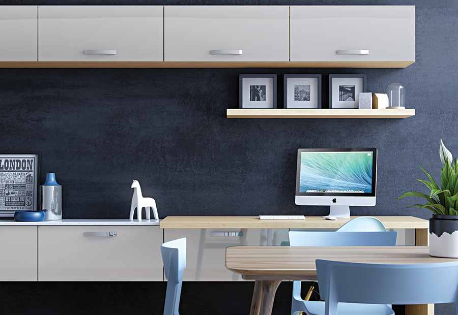 ModerncontemporaryzolaglosslightgreykitchenwallunitsdeskA - Grey kitchen wall units